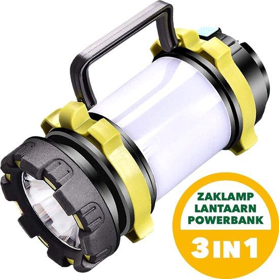 PrimeOutdoor 3-in-1 Camping Lantaarn - Met Ingebouwde Zaklamp - 4000mAh Powerbank - Oplaadbare Batterij - 800 Lumen - Kampeer Lamp