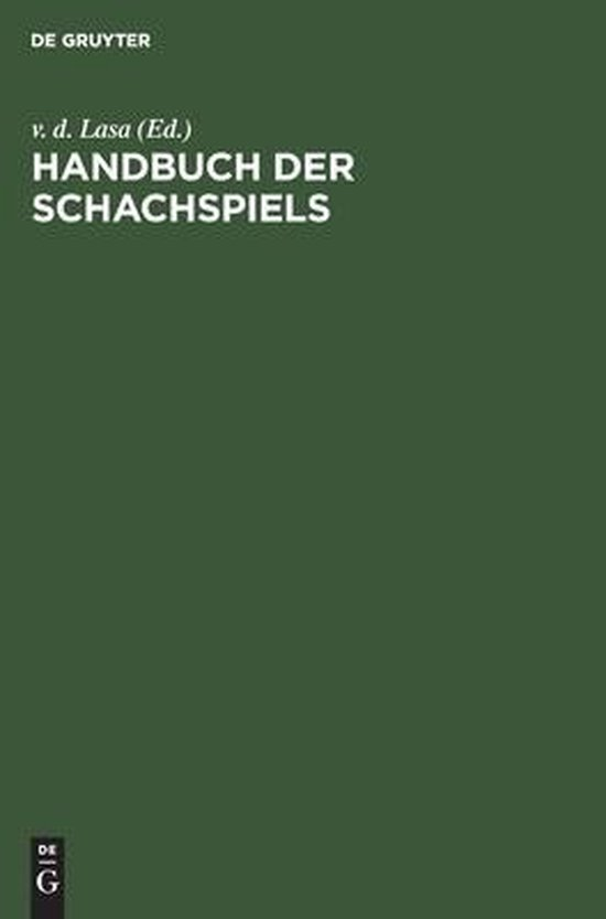 Handbuch der Schachspiels