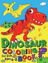 Dinosaur Coloring Book for Kids ages 4-8