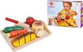 Eichhorn Houten Groenten En Fruit Met Klittenband - 7 Delig