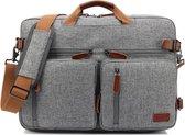 HN®  converteerbare rugzak   schoudertas   geschikt voor laptop   past op een 17,3-inch laptop