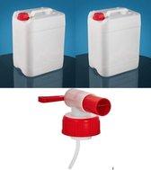 Moralisto Jerrycan-jerrycan voor water- 20Liter+20 Liter (2 Jerrycans MET één KRAAN)-waterkan