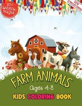Farm Animals Kids Coloring Book Ages 4 to 8