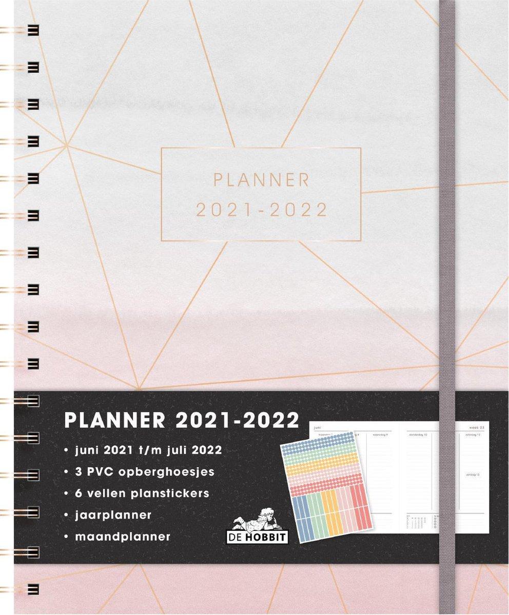 Hobbit schoolagenda 2021-2022 - PLANNER D3 - toetsweekplanners - ringband - elastieken band - 7 dage