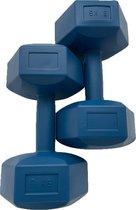 2x Dumbbell - 6 kg - Dumbbell Set - Blauw
