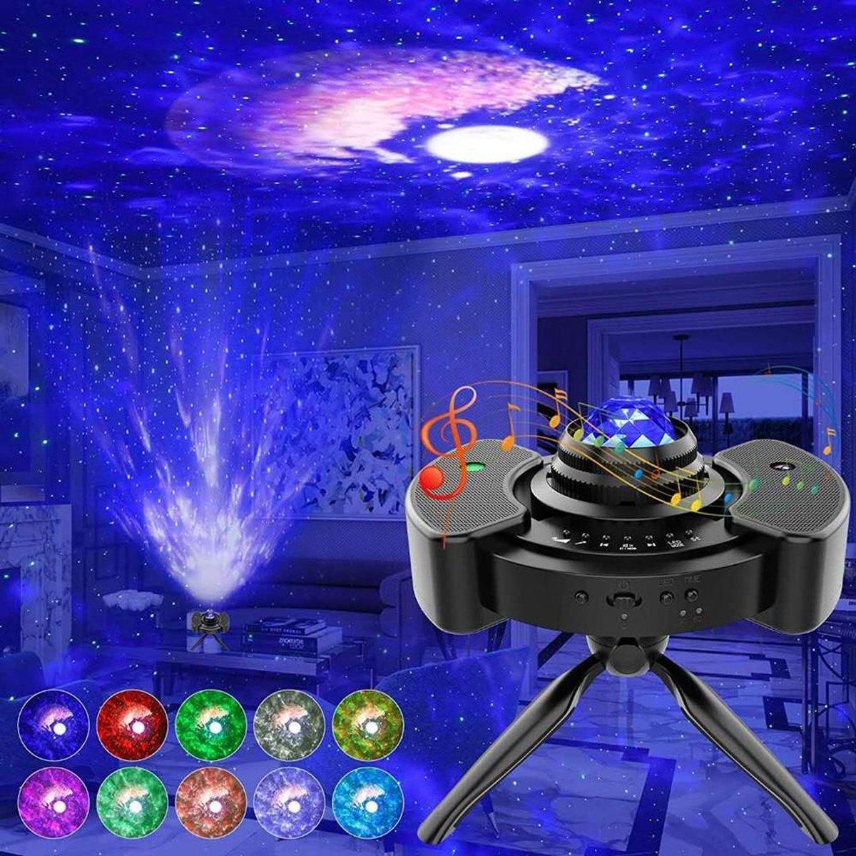 B-care Sterren Projector 2.0 - Vernieuwd 2021 Model - 360° Roterende Lamp - Bluetooth - Sterrenhemel - Sterrenlamp - Galaxy Projector - Stars - Smart Laser - Mediteren - Afterparty - Spacelamp