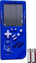Tetris Handheld Spelcomputer - Extra Groot Scherm - Classic Gameboy met Brickgame - Blauw - Inclusief Batterij