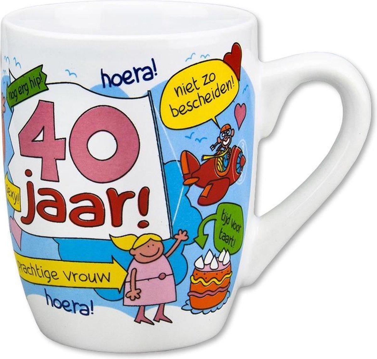 Paperdreams - Cartoonmok - cadeau vrouw 40 jaar