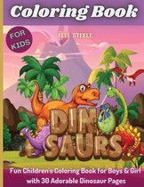 Coloring Book Dinosaurs For Kids