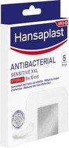 Hansaplast Sensitive XXL Antibacterieel Zilver Wondpleisters - 5 stuks