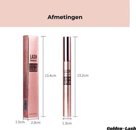 Golden-Lash™ Wimperserum | BEST WERKEND | wimpergroeiserum 2 in 1 - Langere, krullende en Vollere Wenkbrauwen + Wimpers  - Lash Lift