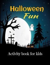 Halloween fun activity book for kids