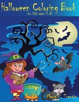 Halloween coloring book for kids ages 3-8