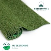 Green Turtle Kunstgras - Grastapijt 100x400cm - 21mm - Wimbledon - Artificieel Gras - Grastapijt voor buiten en binnen