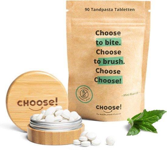 CHOOSE Tandpasta Tabletten met Bamboe Refill Pot