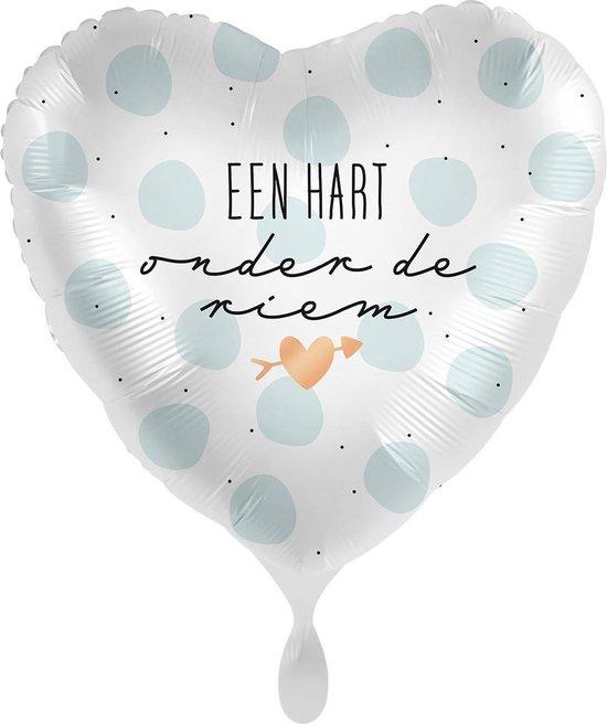 Everloon - Folieballon - Een Hart Onder De Riem - 43cm - Voor sterkte