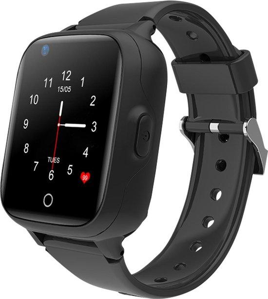 Wonlex GPS horloge kind tracker VideoCall 4G MAX AQUA Wifi Zwart SOS videobellen [IP67 waterdicht] incl. SIM-kaart