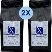 Koffiebonen | Espresso Milanese | 2 X 1000 gram | Voordeel Pakket | Barista | Cappuccino | CoffeeXperts