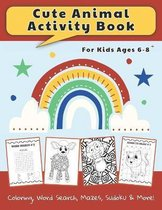 Cute Animal Activity Book For Kids