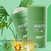 Orby® Green Mask Stick - Gezichtsmasker - Detox stick - Mee eters verwijderen - Blackhead remover