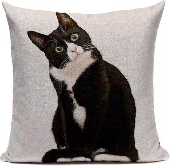 Kattenhebbedingen - Kussenhoes - Poes - Kattenliefhebber - Kat zwart/wit