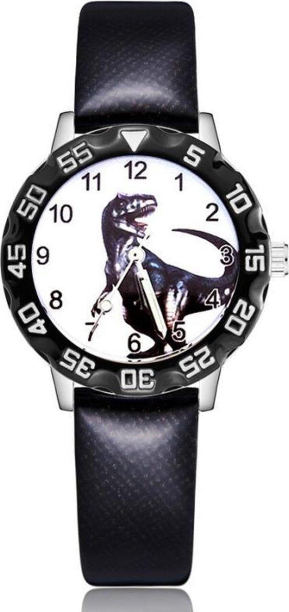 Dinosaurus horloge met glow in the dark wijzers deluxe