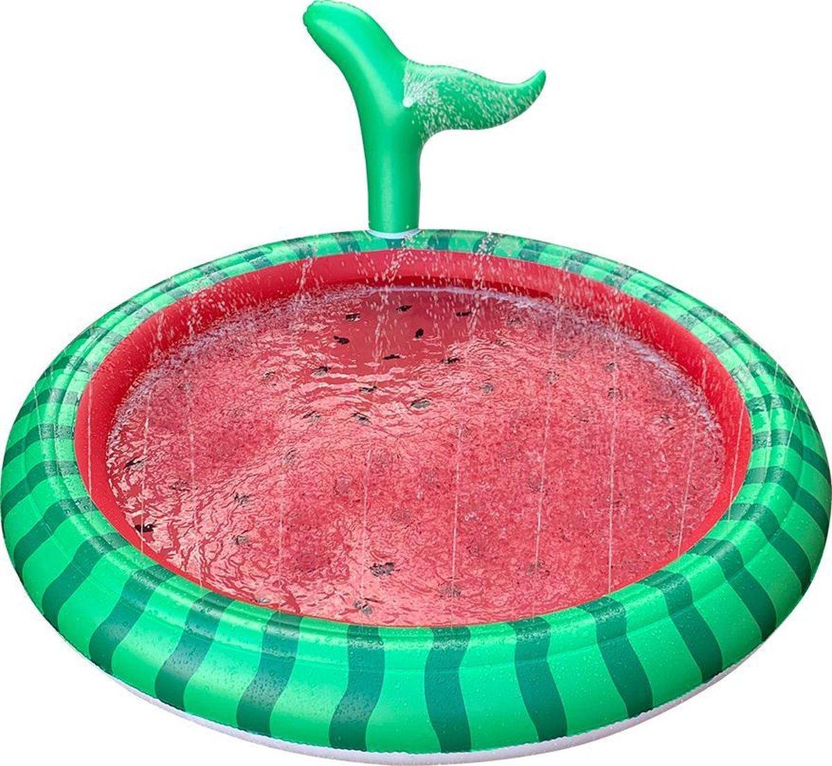 Watermat Watermeloen XL - Speelmat - 170 CM - Waterspeelgoed - Fontein
