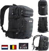 ZEUZ® Fitness & Crossfit Tactical Rugzak Dames & Heren – Sporttas - Army Bag - Sport Tas Zwart
