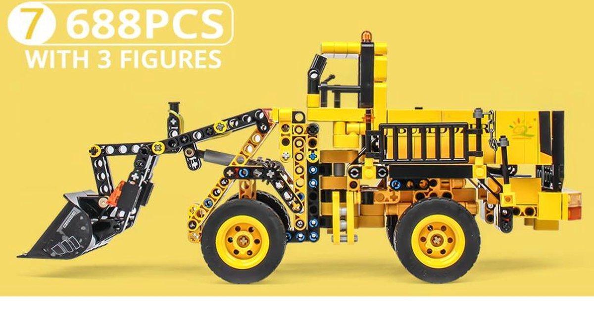 Technisch Lego - Technic - geschikt voor LEGO - Bouwplaats - Bulldozer