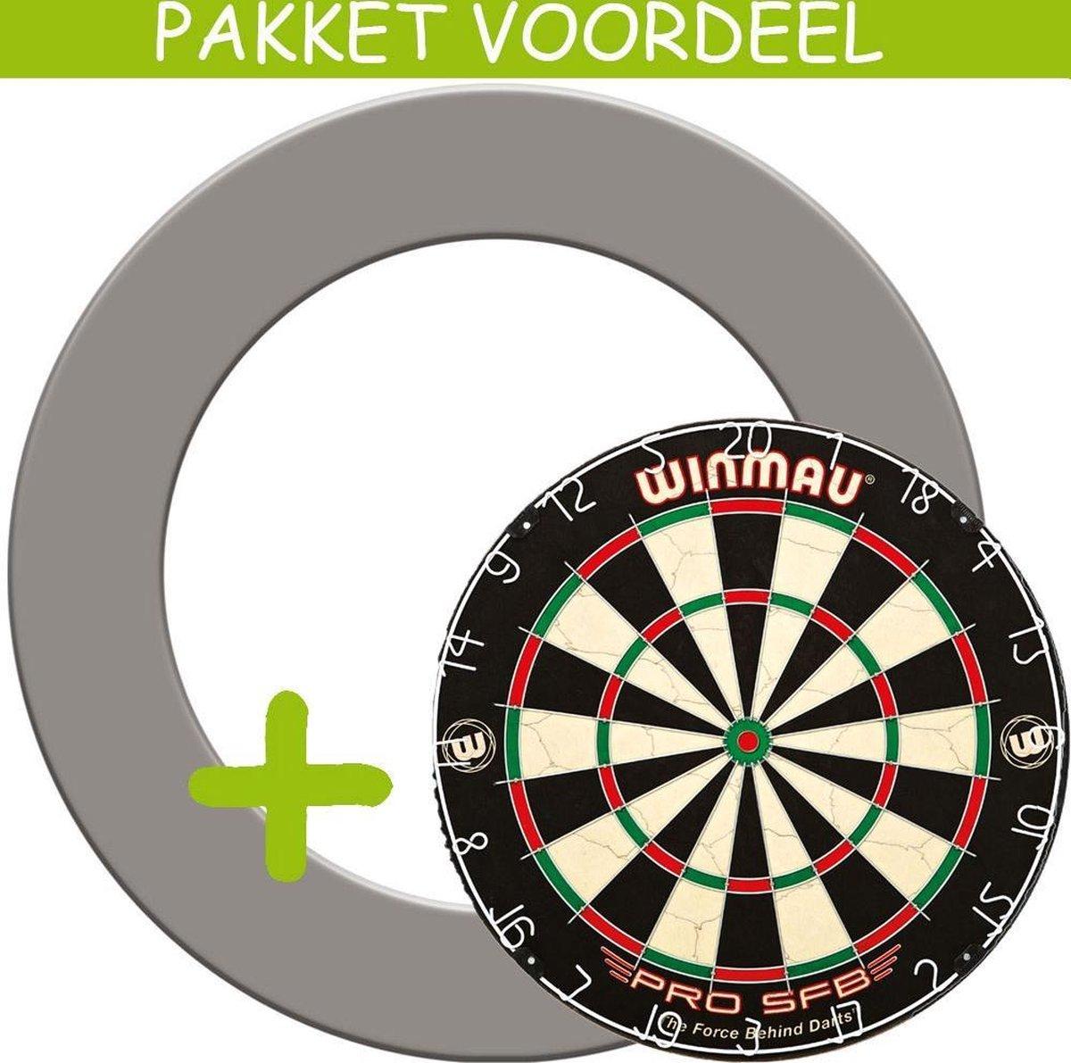 Dartbord Surround VoordeelPakket - Pro SFB - Rubberen Surround-- (Grijs)