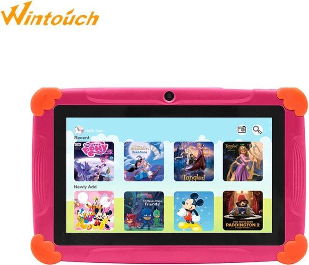 Kindertablet Pro Roze - Tablet 7 inch - 32 GB opslag - Kinder tablet - kindertablet vanaf 3 jaar - tablets kinderen - kids tablet - Scherp HD beeld - leerzame voor kinderen - Wifi Bluetooth - voor-achter camera - Play store - uitstekende batterij