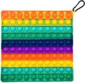 Pop it XL | fidget toy | groot formaat | rainbow vierkant