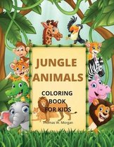 Jungle Animals Coloring Book for Kids