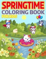 Springtime Coloring Book For Kids