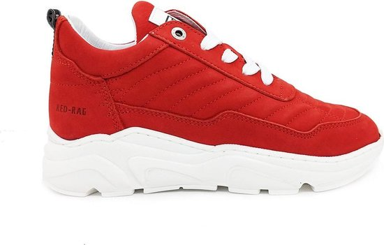 Rode Red Rag Sneakers Brushed Washed