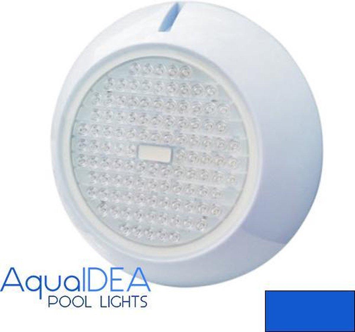 AquaIDEA Zwembadverlichting 20W BLAUW LICHT 12 volt 108 SMD LEDs Ø250mm Opbouw IP68