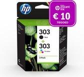 HP 303 - Inktcartridge kleur & zwart +Instant Ink tegoed