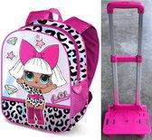LOL Surprise Rugzak met afneembare trolley Top Kwaliteit Vakantie School Tas