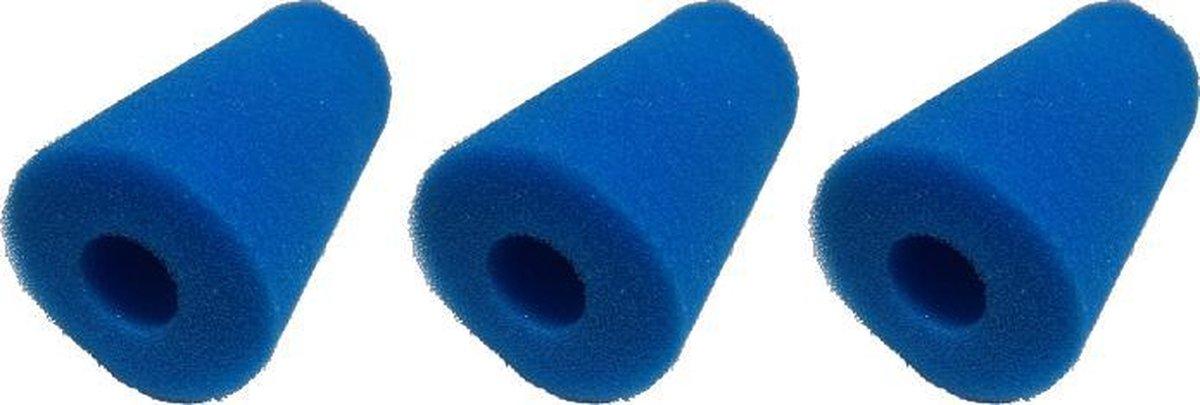 Black Beauty Zwembad Filter Fine Blue Type A Voor Intex 100x200mm Gat 38mm 3pcs.