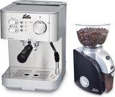 Solis Primaroma 1010 Espressomachine + Scala Plus 1661 Koffiemolen - RVS