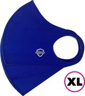 SafeSave mondkapjes-niet medische mondmasker-wasbare en herbruikbare neopreen stoffen mondkapje met leuke print/design-unisex mondkap-3 stuks- XL donker blauw