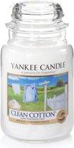 Yankee Candle Large Jar Geurkaars - Clean Cotton
