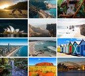 Cadeautip! | Luxe Australië Ansichtkaarten set 10x15 cm | 24 stuks
