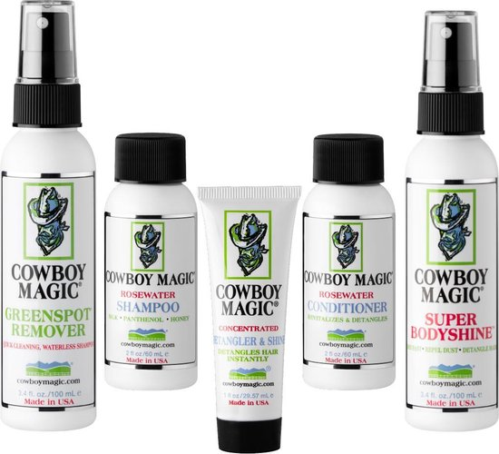 Cowboy Magic Grooming Kit, Gift-Set with World's Leading Detangler, Shampoos, Conditioner and Finishing sprays.
