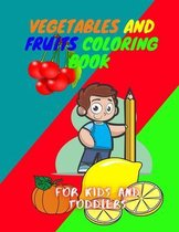 Vegetables and fruits Coloring book for kids and Toddlers
