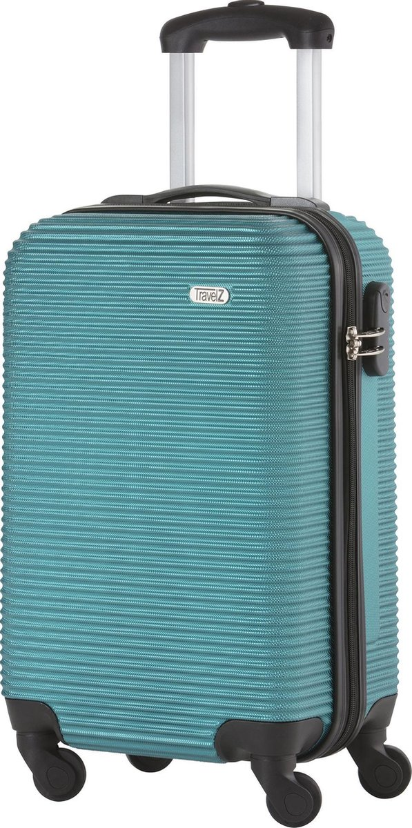 TravelZ Horizon Handbagagekoffer - 54cm Handbagage Trolley met gevoerde binnenkant – Zeegroen