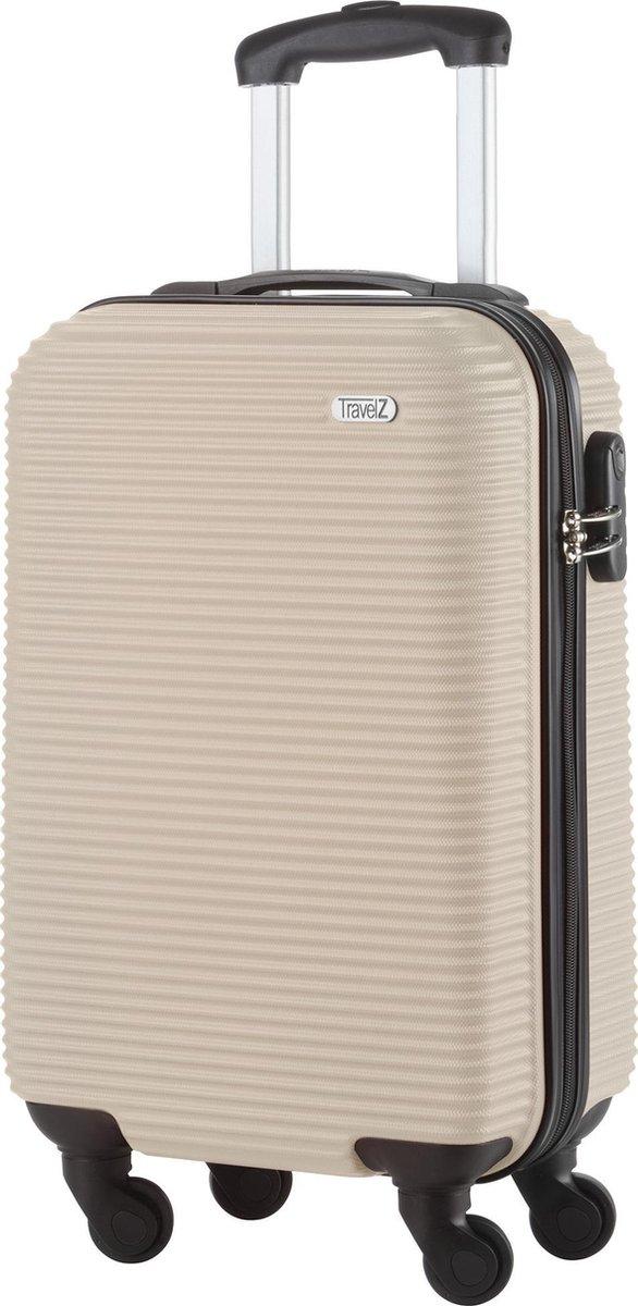 TravelZ Horizon Handbagagekoffer - 54cm Handbagage Trolley met gevoerde binnenkant - Champagne