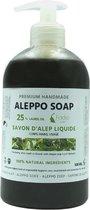 Aleppo Zeep Vloeibaar - 25% laurier - Savon d'Alep Liquide Farha - Vegan friendly - Vloeibare ~Zeep