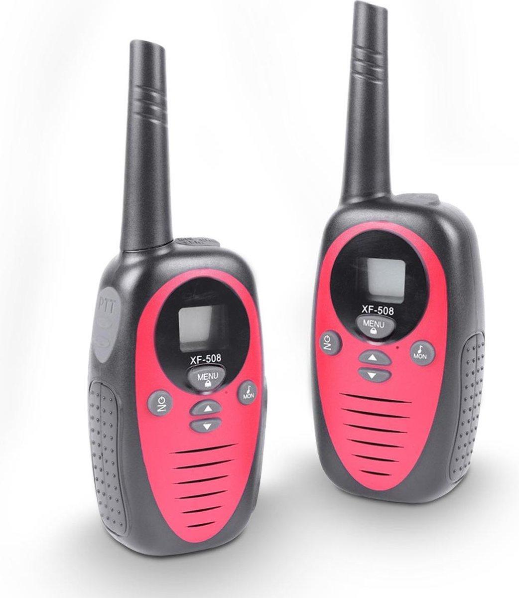 Cammy Talkie - Walkie Talkie voor Kinderen - 2 stuks - 3 km bereik - Verschillende kleuren - Rood - Inclusief batterijen