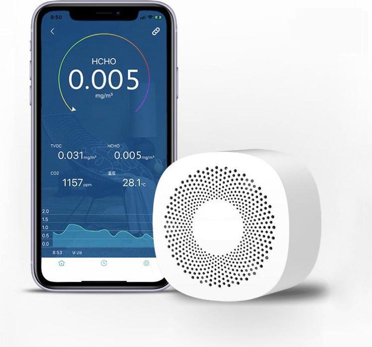 Luchtkwaliteit Meter - CO2 Meter - ( Bediening via App, Android/IOS )